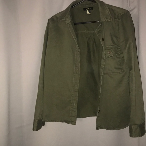 Forever 21 Jackets & Blazers - Green jacket